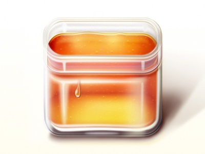 Honey icon icon photoshop ios glass honey drop