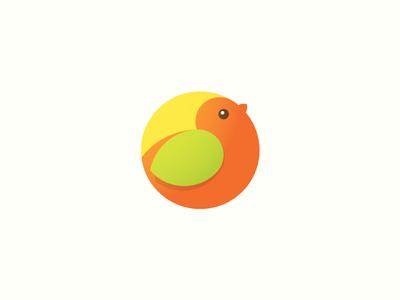 Baby shop logo. WIP logotype work in progress bird