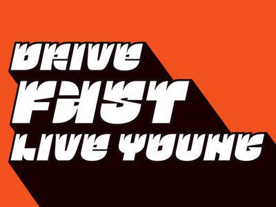 Drive fast live young Латиница Огонёк Шрифт glyph ogonyok type typeface font latin quote