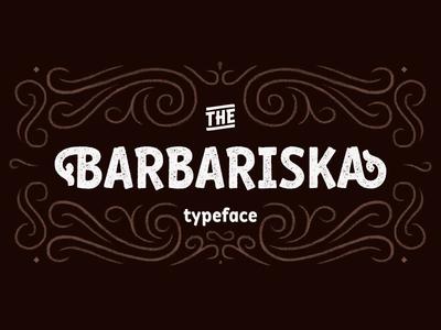 Typeface Barbariska cute cyrillic latin font typeface type barbariska