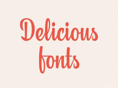 Delicious vishenka type typeface font latin cute lettering