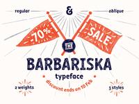 Barbariska typeface