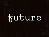Future monospace font type typeface