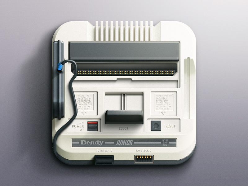 Dendy Icon dendy ios icon photoshop game console