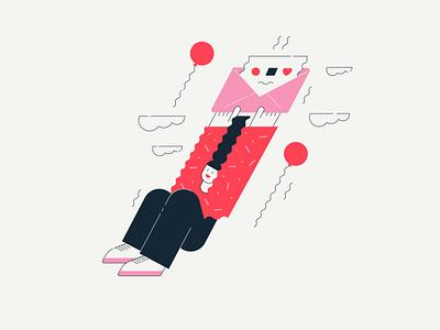 50 Strange Invitations people vector flat modern for web conceptual fun weird character strange invitation illustration