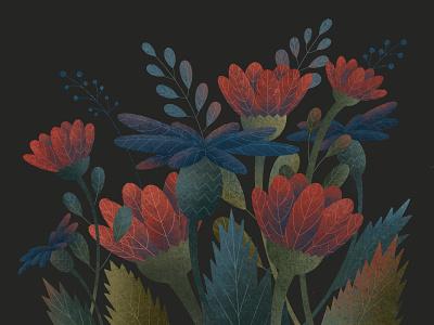 Flowers illustration nature bouquet flowers