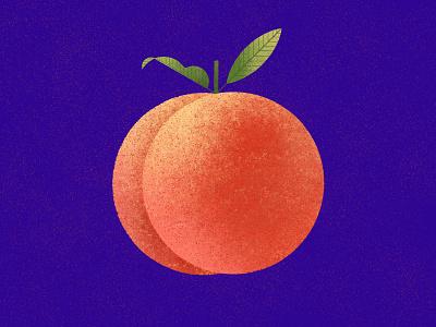 Peach healthy food peaches fruits vector geometric minimalist modern flat illustration fruit peach