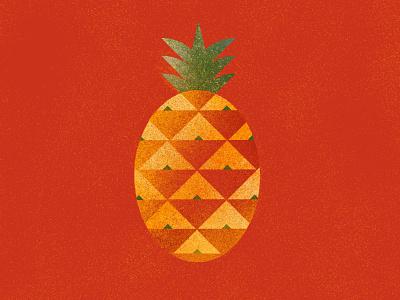 Pineapple cook modern flat minimalist geometric food artwork illustration fruit pineapple