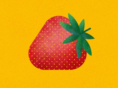 Strawberry juicy juice delicious flat editorial modern colorful bright fruit fruits food geometric vector minimalist illustration strawberry