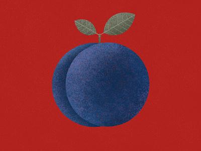 Pulm berry fruit colorful tasty ediitorial food flat modern minimalist illustration pulm