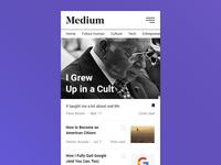 Medium App Redesign