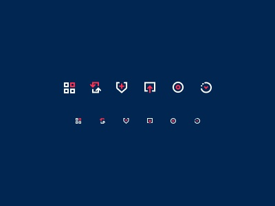 Icons 16x16 coral icons pack concept windows 16x16 small vector icons