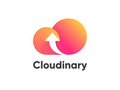 Cloudinary figma vector branding redesign simple gradient logo cloud arrow cloudinary image hosting