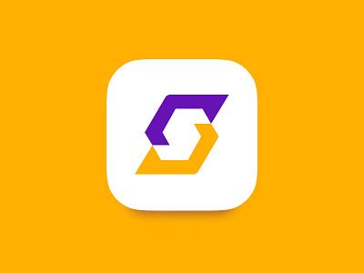 Lettermark S lettermarkexploration lettermark secure sign flat modern symbol icon app ios contrast purple letter s letter icons icon logomark logo
