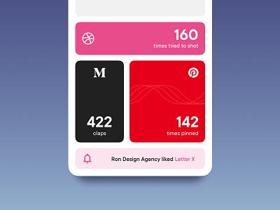 Social Achievements vector achievements flat modular metrics social app ios interface ui mobile app