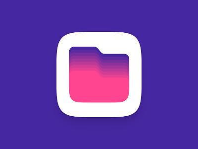 Files App Icon iOS purple iphone icon design ios icon mobile app mobile vector flat logo concept