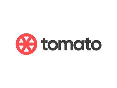 Tomato branding flat simple concept tomato logo