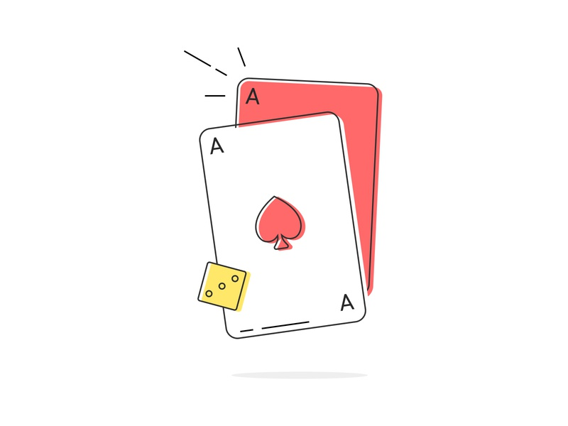 Poker gambling flat vector figma simple outline illustration