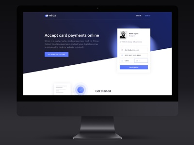 Recent Template Upgrade! minimal flat lettering design ui ux typography illustration branding blue and white website web