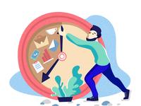 Illustration for time-managment site