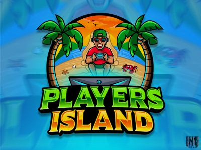 Logo Players Island illustrator vector beach island players behance branding logo illustration designs 99designs logotoons mascot character evanscrea
