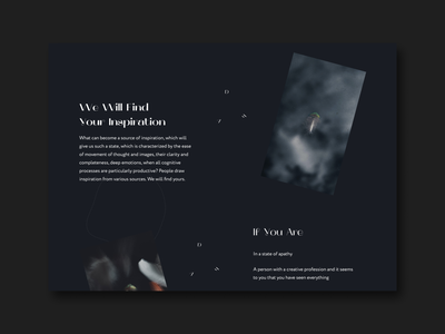 VDh — Inspiration Delivery Service | Concept clean uiux web graphic design dailyui ui typography inspiration design concept