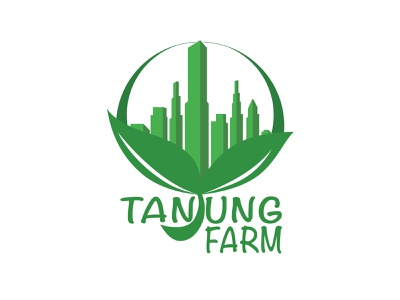 Tanjung Farm Logo wahyu unggul sejati building farm logo flat design illustration branding vector logo