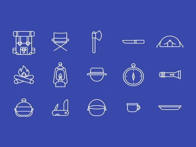Camping Icon camping web ux ui app icons symbol icon pack button design iconography icon
