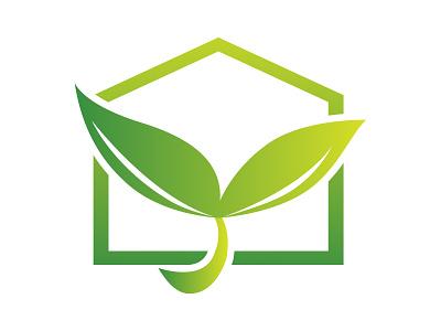 Green House Logo branding vector illustration design farm house logo green