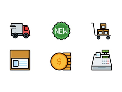 Shopping & E-Commerce Icon online e-commerce ecommerce shopping shop app filled line web vector ux ui symbol illustration icon pack iconography design button icon