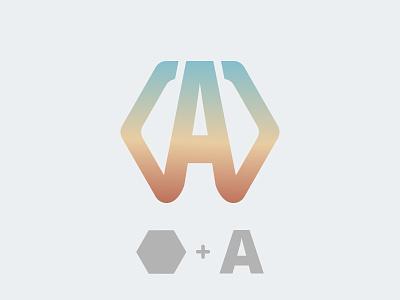 A Logo type illustration vector hexagon alphabate alphabet a logo design