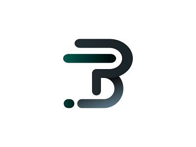 P & D Logo company web app branding logo vector illustration design letter d p