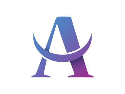 Letter A Logo company branding a letter logo vector illustration design