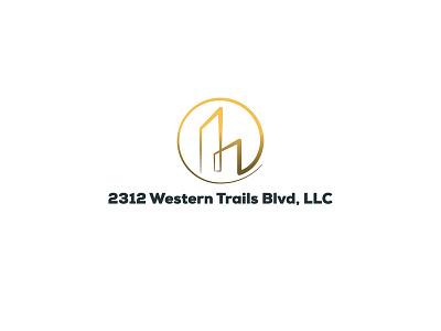 2312 Western Trails Blvd, LLC Logo space work office llc 2312 western trails blvd mortgage real estate design vector illustration branding logo