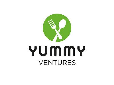 Yummy Ventures Logo ventures yummy food and drink drink food modern simple flat app web branding logo icon vector illustration design