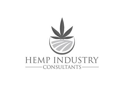 Hemp Industry Consultants Logo pharmaceutical pharmacy medical consultant industry hemp marijuana flat typography app web branding logo icon vector illustration design