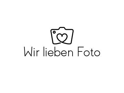 Wir lieben Foto Logo camera love photography foto lieben wir app symbol typography web branding logo icon vector illustration design