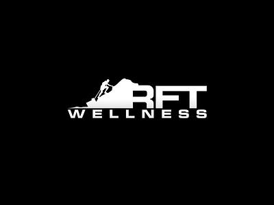 RFT Wellness  Logo wellness rft fitness physical modern simple flat filled line app symbol web branding logo icon vector illustration design