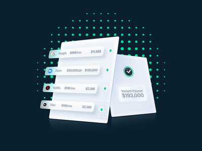Landing page header and more neumorphic financial fintech ux ui design vector illustration branding