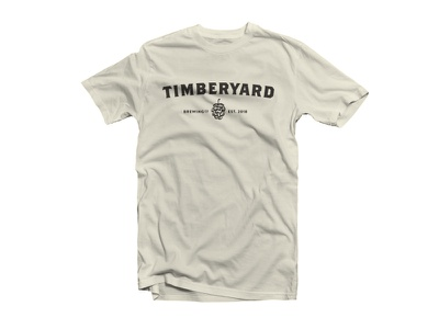 Timberyard Text Design - Unused T-Shirt Design branding brewery simple hop text typogaphy drinklocal beerlover craftbeer beer timberyard massachusetts