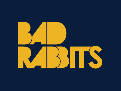 Bad Rabbits Logo massachusetts warped tour rock rb boston typography type hip hop soul funk bad rabbits