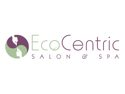 EcoCentric Salon & Spa logo faces olive lavender yang ying ying yang spa salon eco enviornment eco friendly