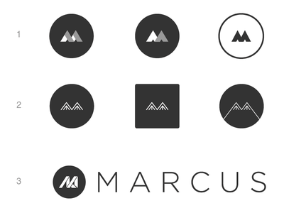 [WIP] Personal Brand name shapes marcus m brand personal