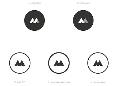 [WIP] Personal Brand v2 shapes minimal names marcus m circle logo design logo branding brand