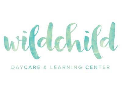 Wildchild Daycare & Learning Center handlettering watercolor learning daycare wildchild