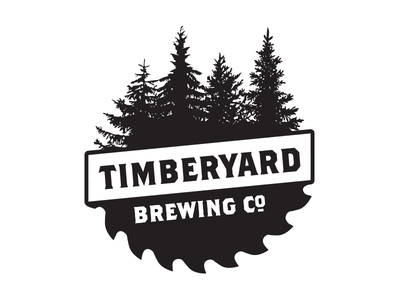 Timberyard Brewing Company forest trees saw wood timberyard local logo branding brew brewing beer brewery