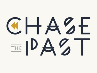Chase The Past arrows rock band worcester massachusetts typography past chase logo design branding logo band emo