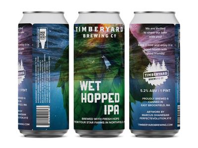 Timberyard Brewing - Wet Hopped IPA Can Design