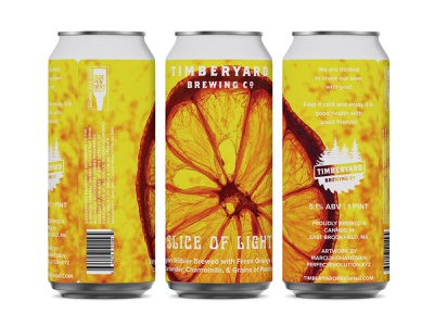 Timberyard Brewing - Slice of Light Can Design worcester wheat beer witbier timberyard art pulp england new massachusetts logo drinklocal craftbeer packaging brewery beerlover can branding beer 16ozcanvas