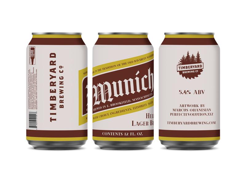 Timberyard Brewing - Munich Helles Lager Can Design